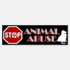 Stop Animal Abuse 1 Bumper Bumper Sticker