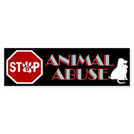 Stop Animal Abuse 1 Sticker (Bumper)