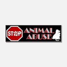 Stop Animal Abuse 1 Car Magnet 10 x 3