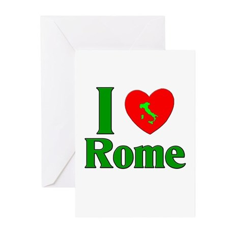 I Love Rome Greeting Cards (Pk of 10)