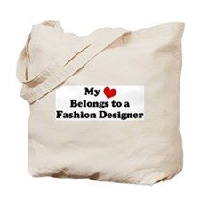 Heart Belongs: Fashion Design Tote Bag