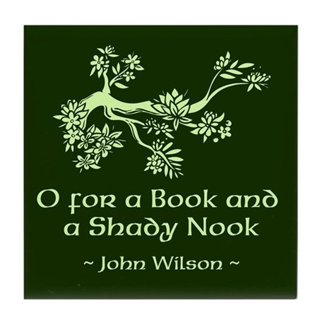 O for a Book Tile Coaster