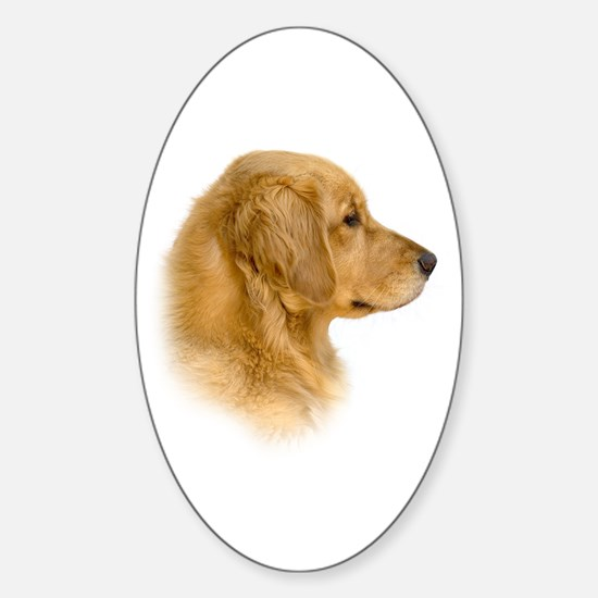 Golden Retriever Portrait Oval Decal
