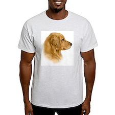 Golden Retriever Portrait Ash Grey T-Shirt