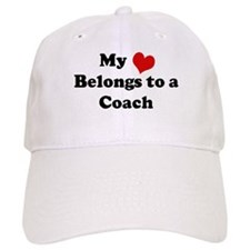 Heart Belongs: Coach Baseball Baseball Cap