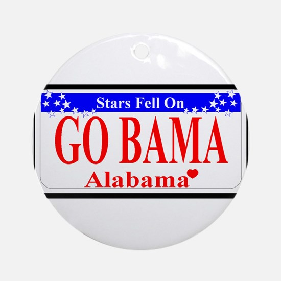 Go Bama! Ornament (Round)
