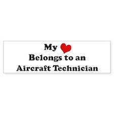 Heart Belongs: Aircraft Techn Bumper Bumper Sticker