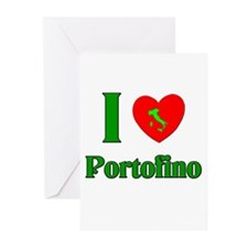 I Love Portofino Greeting Cards (Pk of 10)