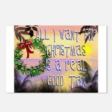 Cute Tropical santa Postcards (Package of 8)