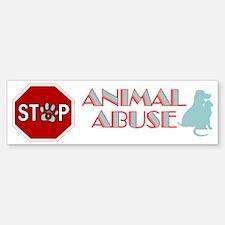 Stop Animal Abuse 2 Bumper Bumper Sticker