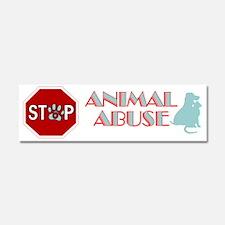 Stop Animal Abuse 2 Car Magnet 10 x 3