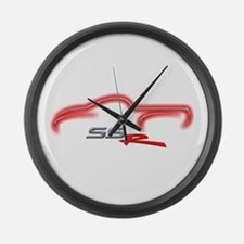 Redline Red Large Wall Clock