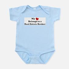 Heart Belongs: Real Estate Br Infant Creeper