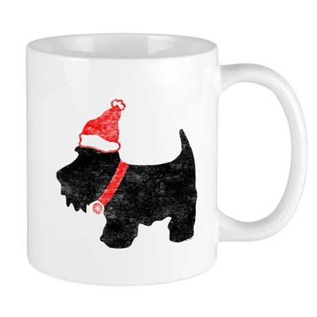 Xmas Scottie Dog Mug