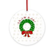 Cherokee Christmas Wreath Ornament (Round)