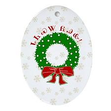 Cherokee Christmas Wreath Ornament (Oval)