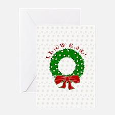 Cherokee Christmas Wreath Greeting Card
