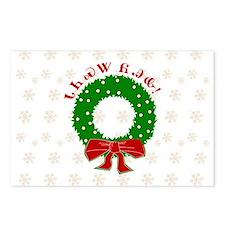 Cherokee Christmas Wreath Postcards (Package of 8)
