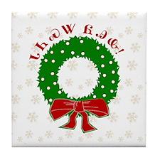Cherokee Christmas Wreath Tile Coaster