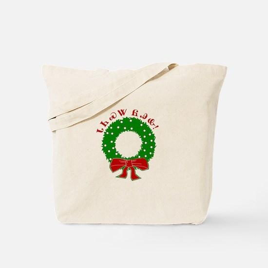 Cherokee Christmas Wreath Tote Bag