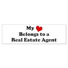 Heart Belongs: Real Estate Ag Bumper Bumper Sticker
