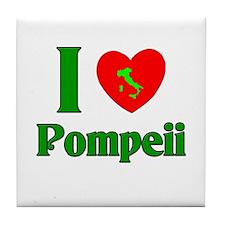 I Love Pompeii Tile Coaster
