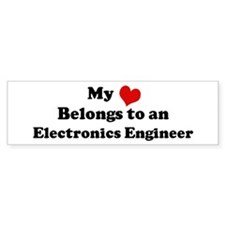 Heart Belongs: Electronics En Bumper Bumper Sticker