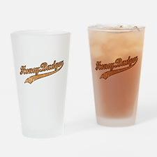 Team Honey Badger Drinking Glass