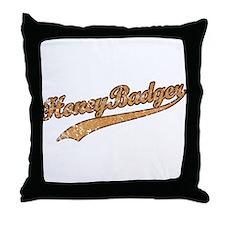 Team Honey Badger Throw Pillow