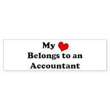 Heart Belongs: Accountant Bumper Bumper Sticker