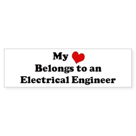 Heart Belongs: Electrical Eng Bumper Sticker