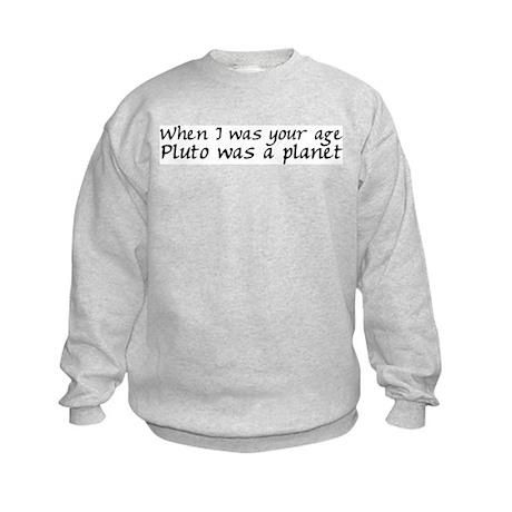 Pluto Was A Planet Kids Sweatshirt