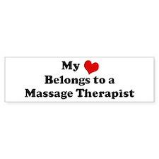 Heart Belongs: Massage Therap Bumper Car Sticker