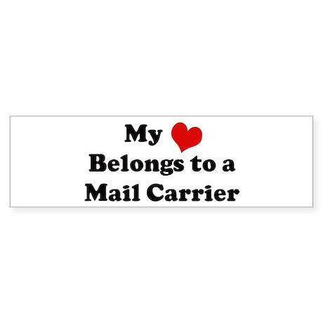 Heart Belongs: Mail Carrier Bumper Sticker
