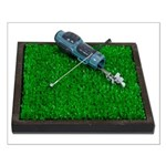 Golf Clubs Bag on Grass Small Poster