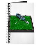 Golf Clubs Bag on Grass Journal