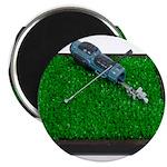 Golf Clubs Bag on Grass Magnet