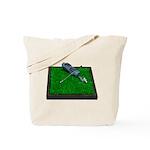 Golf Clubs Bag on Grass Tote Bag