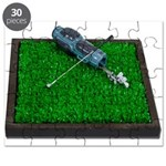 Golf Clubs Bag on Grass Puzzle