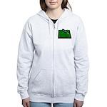 Golf Clubs Bag on Grass Women's Zip Hoodie