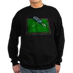 Golf Clubs Bag on Grass Sweatshirt (dark)