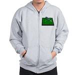 Golf Clubs Bag on Grass Zip Hoodie