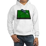 Golf Clubs Bag on Grass Hooded Sweatshirt