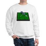 Golf Clubs Bag on Grass Sweatshirt