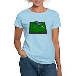 Golf Clubs Bag on Grass Women's Light T-Shirt