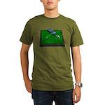 Golf Clubs Bag on Grass Organic Men's T-Shirt (dar