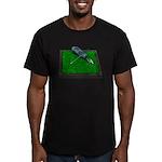 Golf Clubs Bag on Grass Men's Fitted T-Shirt (dark