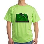 Golf Clubs Bag on Grass Green T-Shirt