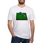 Golf Clubs Bag on Grass Fitted T-Shirt