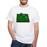 Golf Clubs Bag on Grass White T-Shirt